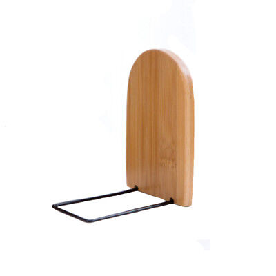 1Pc Practical Anti-skid Bookends Shelf Holder Wooden Book Stand Desk Organizer