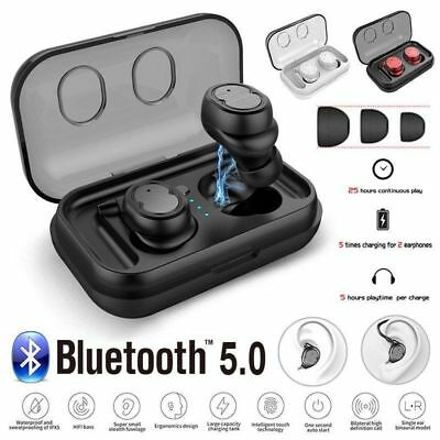 Bluetooth 5.0 Earbuds Wireless Headphones Stereo Mini Invisible Single Headset