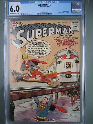 Superman #123 Supergirl Tryout CGC 6.0 Universal **Key Book** DC Comics 1958