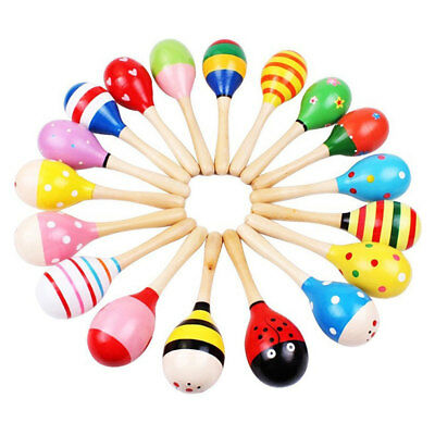 Baby Children Shaker Toys Educational Toy Cute Wooden Rattles Musical Instrument
