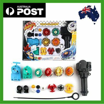 Top Fusion Metal Master Fight Rapidity Rare 4D Beyblade Launcher Set Kid Toy Ac