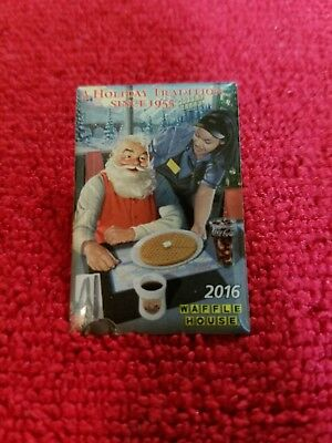Waffle House - 2016 - Annual Christmas Pin - Lmt Edt Santa W/wh Employee - New