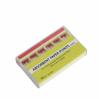 200 Pcs #25 Dental Endo Absorbent Paper Points Sterile Gutta Percha Color Coded