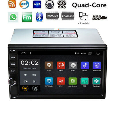 """7"""" Android 8.1 Auto Radio Stereo 4G WIFI 2DIN Player GPS RAM:2GB ROM:16G DAB TV"""