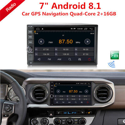 "7"" 2Din Android 8.1 Quad-Core 2+16GB Car Stereo Radio GPS Wifi 3G 4G BT DAB OBD"