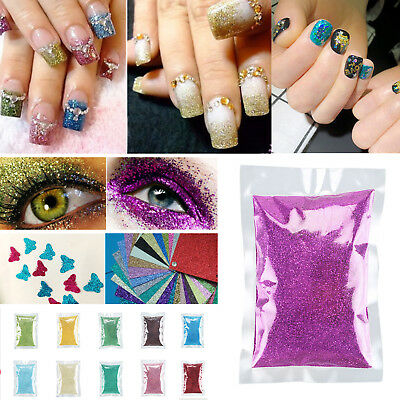 20 color Nail Art Acrylic Metal Glitter Powder Dust Gem Craft Card Decorating