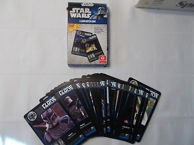 Das Star Wars The Clone Wars Kartenspiel 3-Card Match Game Cartamundi Kinder