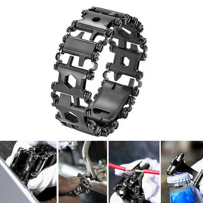 29 In 1 Multi Function Stainless Steel Bracelet Outdoor Camping Survival Tool