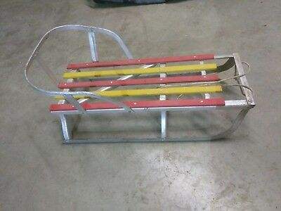"Vintage Sled Aluminum Wood And Metal 29 1/2"" Length"