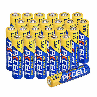 Pkcell 24Pcs AAA Carbon-Zinc Battery R03P UM4 1.5V Super Heavy Duty Batteries