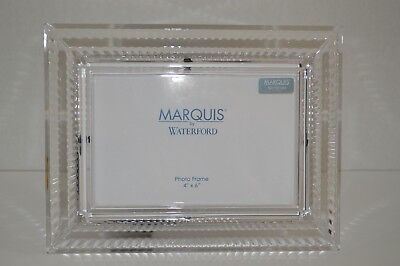 Waterford Marquis  4 x 6 Lead Crystal Picture Frame Blaze Pattern *retired*