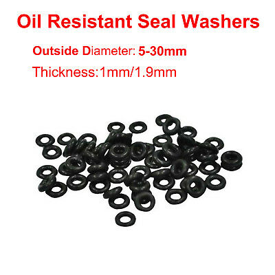 5-30mm Diameter Oil Resistant Seal Washers NBR Rubber Black O-Ring Mechanical
