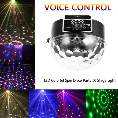 RGB LED Effect Disco Light Stage DJ Laser Lights Xmas Party Crystal Magic Ball