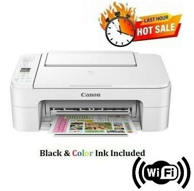 Canon PIXMA Wireless Home Office Work All-in-One Inkjet Printer, INK INCLUDED