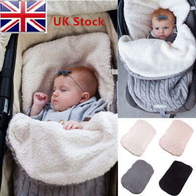 Knit Baby Crochet Swaddle Newborn Wrap Swaddling Blanket Soft Sleeping Warm Bag