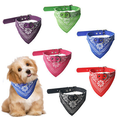 Dog Neck Neckerchief Bandana With Collar Adjustable Pet Cat Puppy Scarf UK