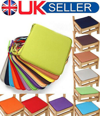 UK Removable Seat Pad Tie On Dining Room Chair Cushion Home Garden Outdoor Patio