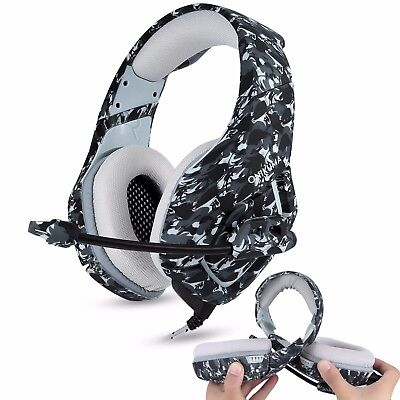 GB ONIKUMA Gaming Headset for PS4 Xbox Switch 3.5MM MIC Headphone Camouflage