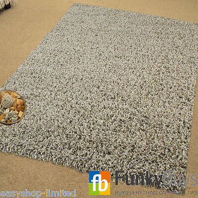 Luxurious Grey Super Soft Living Room Rug Non Shed Shaggy Hall Runner Bedroom
