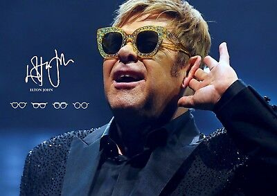 Elton John poster - music legend - signed (copy) - # 16 - A3 - 420mm x 297mm new