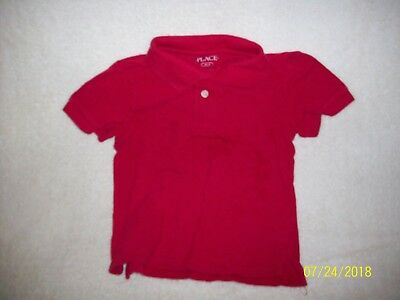 The Children's Place Red Short Sleeve Uniform Polo Shirts Size Xs 4