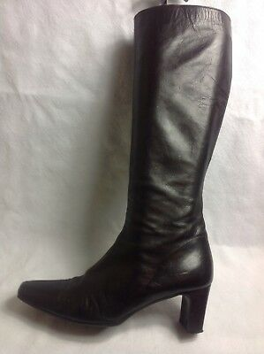 RUSSELL EU & BROMLEY Ladies Knee High StiefelGröße UK 6 EU RUSSELL 39 Braun ... e8d500