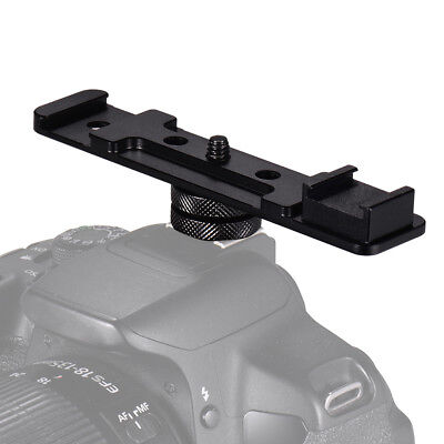 Aluminium Alloy Camera Dual Hot Shoe Extension Bar For Flash Speedlite Led Z8L3