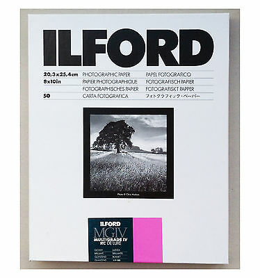 "Ilford Multigrade IVRC De Luxe Glossy Black & White 10x8"" (20.3x25.4cm) 50 sheet"