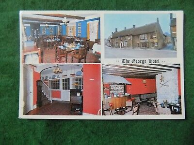 Postcard Somerset: Castle Cary George Hotel multiview colour PLP