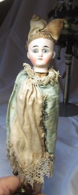 Antique German Marotte Doll c1890 Bisque 102/40 Original Silk Clothes Rare