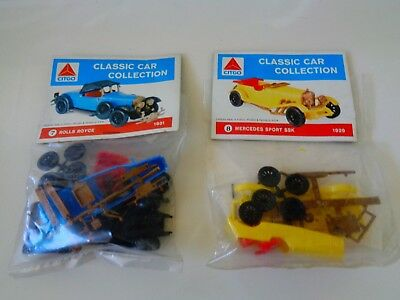 Citco Classic Car Collection Kits - Rolls Royce & Mercedes Sport Ssk  Nip