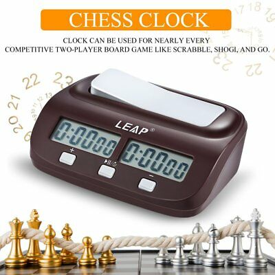Chess Clock Timer Digital Chess Clock Two LED Screens Fashion Simple AUS7