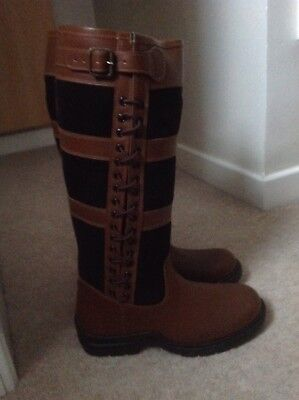 Brand New Leather HKM Milano Waterproof Country Boots Size 9 Uk 43 Euro