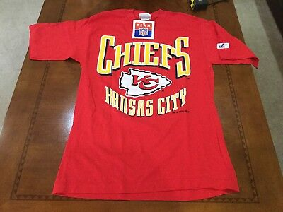 NFL Kansas City Chiefs VINTAGE TEE SHIRT MEDIUM NOS THROWBACK Patrick Mahomes