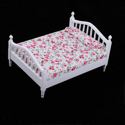1/12 MINIATURE BEDROOM Furniture Decor - Bed With Flower ...