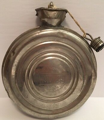 Vintage Antique WentWorth Well Canada Metal Water Drinking Cantine Hot w/ Lids
