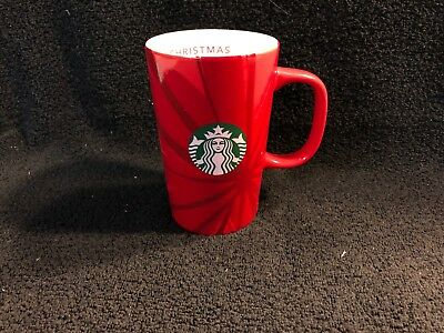 2014 Starbucks 12 oz. Tall Red Christmas Blend Latte Coffee Mug 30th Anniversary