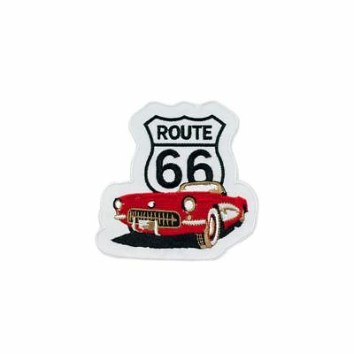 Route 66 (Iron on) Embroidery Applique Patch Sew Iron Badge