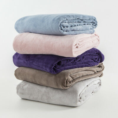 New Essentials Soft Touch 300gsm Microfibre Blanket