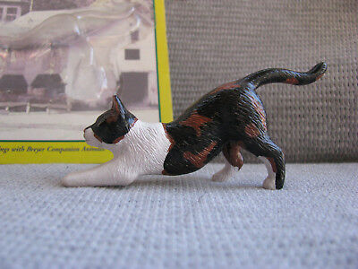 Breyer #1517 Stretching Calico Cat With Card Made 2000-2004