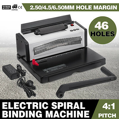 Electric Inserting Punching Spiral Binding Machine 4:1 Pitch 46 Holes