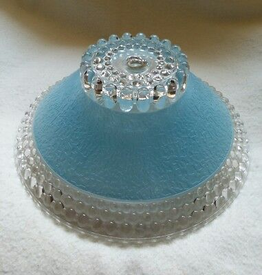 Antique Victorian Ceiling Light Heavy Frosted Textured Hobnail Glass Shade RARE