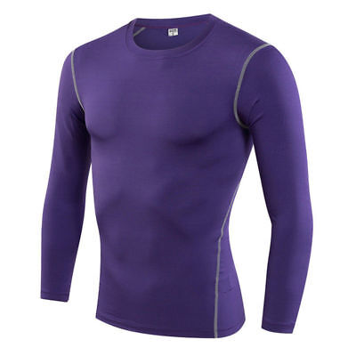 Men Training Quick-drying Tight Long Sleeve Compression Sports Shirt Fine # 17