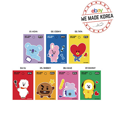 BTS BT21 Character Soft Deco Sticker (Big Size) Official K-pop Authentic Goods