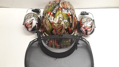 Forestry Kit hard hat / helmet Scary joker design - Fully BS EN397 Compliant