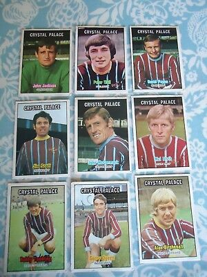 A&BC 1970s Crystal Palace Footballers Cards Orange Back Choose from selection