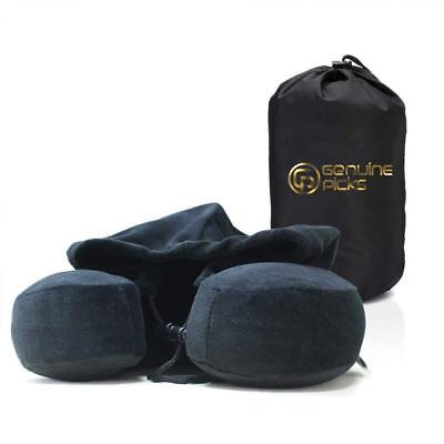 Memory Foam U Shaped Neck Travel Pillow with Hoodie Lovely Carrying Bag NEW US