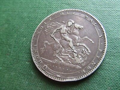 George Iii.  1820, Silver Five Shillings.  A Classic Design.   Nice Condition.