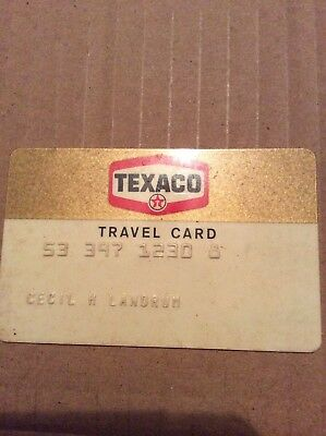 Vintage Texaco travel card. Expired Credit Card