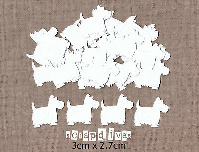 Scrapbooking Embellishments - SCOTTY DOG Die Cuts - Cardstock x 30